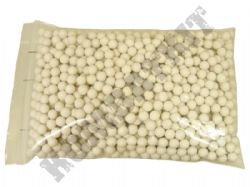 1000 x 6mm x 20g White Polished Airsoft BB Gun Pellets in Bag Ultrasonic